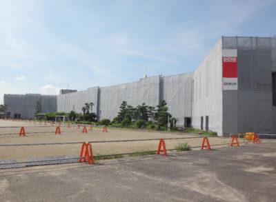 松枝小学校改修工事施工中