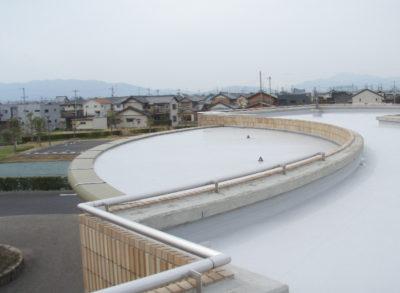 羽島市営斎場下屋根防水改修工事